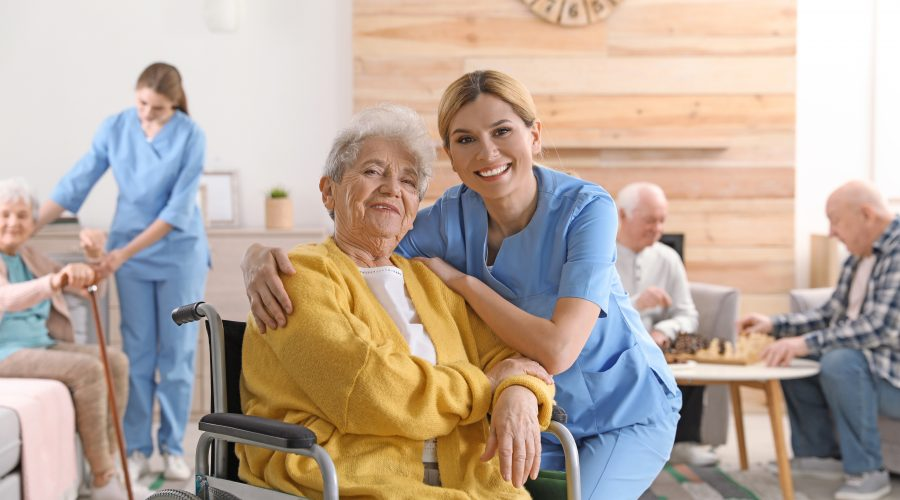 A nurse helping the patients